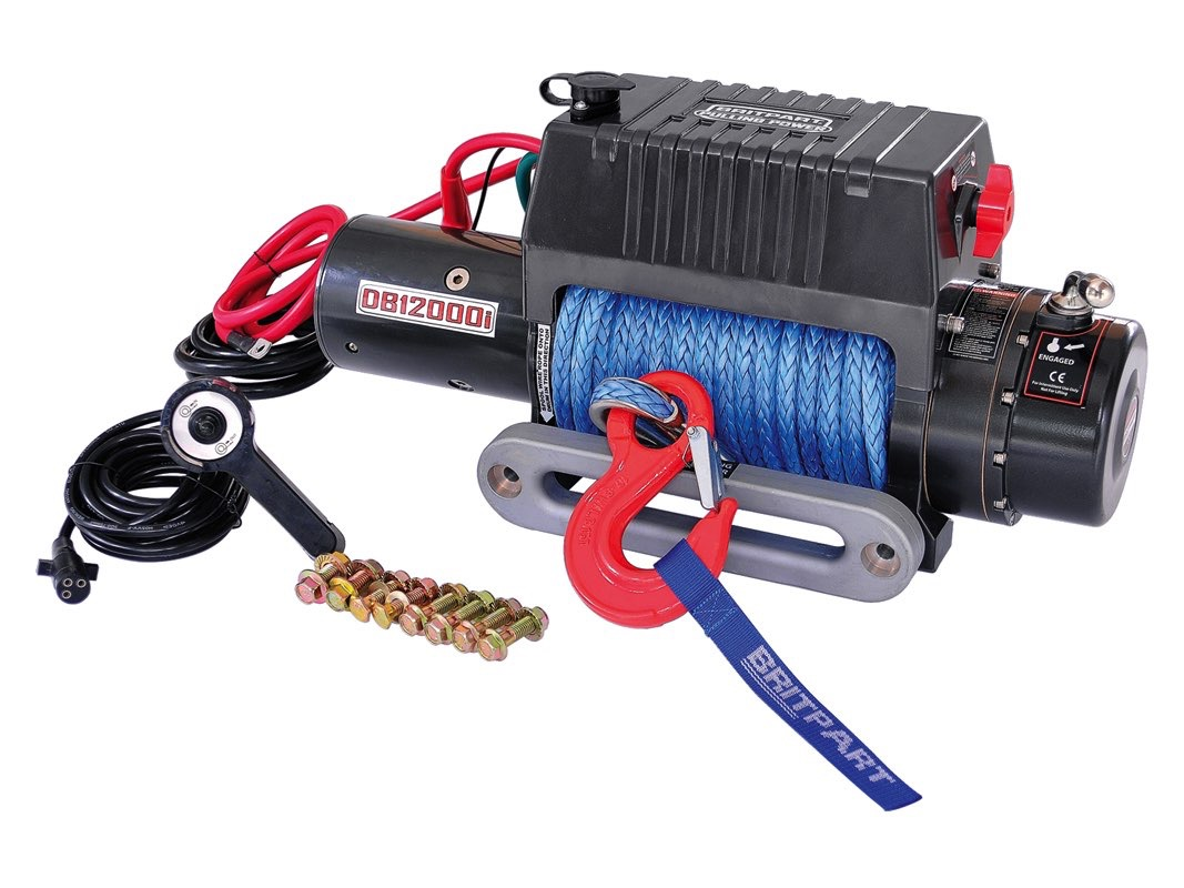 Britpart Pulling Power Winch - 12,000lbs